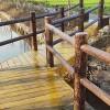源头厂家批发水泥仿木护栏景区栏杆
