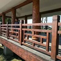 厂家供应水泥仿木护栏窗棂型水泥栏杆